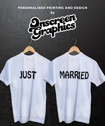 His And Her Wedding Gifts Just Married T Shirts Loosefit Ideal Wedding Gift For The