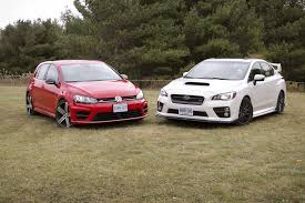 nissan 370z vs golf r comparison test 2016 subaru wrx sti vs 2016 volkswagen golf r
