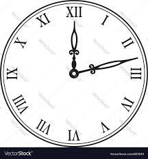 black wall clock royalty free vector image vectorstock