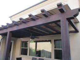 California Awning Sloped Trellis Awning Cover Recently Installed In Irvine