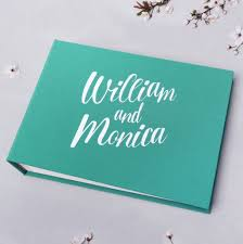 Wedding Sign In Book Wedding Instax Guest Book Sign In Book Instant Album Teal Blue