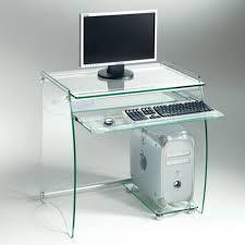 bureau transparent verre bureau en verre transparent zani