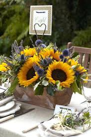sunflower wedding decorations sunflower wedding bouquet prices slate and dusty blue ideas floral