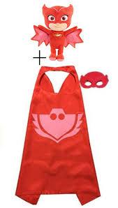 1pcs pjmasks inspired costume cape mask 1pcs cute dolls plush