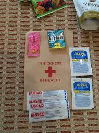 first aid kit for welcome bags wedding gift bags pinterest