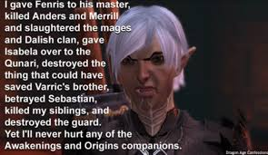 Dragon Age Meme - dragon age confessions