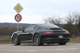 slammed porsche 2017 porsche 911r spied shows massive rear diffuser autoevolution