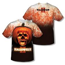 halloween ii ii pumpkin skull all over t shirt