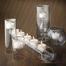 aliexpress com buy stunning set 5 glass candle holders cylinder