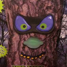 Purple Led Halloween Lights Amazon Com Pmg Evil Eyes Tree Faces Spooky Light Up Led