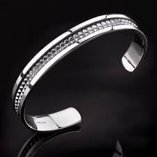 mens silver bangle bracelet images Stylish men 39 s silver bracelet bangles trendy jpg
