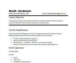 Sample Resume For Server Position by Resume Examples Objectives Example Resume Objectives Basic