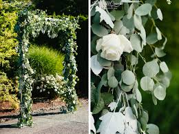Wedding Arch Greenery Navy Blue And Sage Columbia Winery Wedding Featured On Junebug