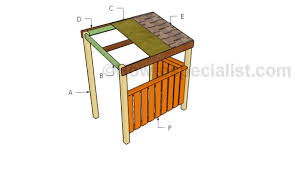 bbq grill shelter plans howtospecialist how to build step by