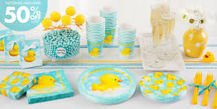 rubber duck baby shower ideas mesmerizing looked in bright yellow and soft blue theme for every