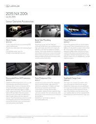 lexus limited warranty lexus accessories 2015 nx 200t by lexus canada