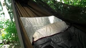 hennessy hammock 6 under pad youtube