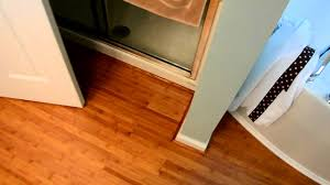 new bamboo floor in bathroom youtube