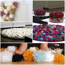 wohnideen diy diy wohnideen handgefertigter bommel teppich für ihr zuhause