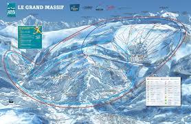 grand map grand massif ski map