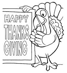 happy thanksgiving day says the turkey coloring page