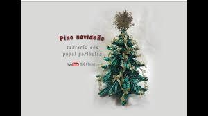 pino navideño cestería con papel periódico christmas baskets