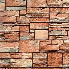 wallpaper design batu bata 3d stone wallpaper roll modern natural rustic grey red brick 3d