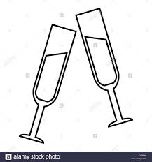 champagne bottle outline champagne bubble line stock photos u0026 champagne bubble line stock
