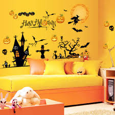 online get cheap skull wall decals aliexpress com alibaba group pumpkin carriage wall stickers happy halloween home household room wall sticker witch mural wall decal skull