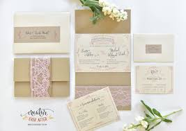 custom burlap and lace wedding invitations creative ever after