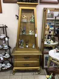 curio cabinet with light vintage gold curio cabinet for sale with shelves lights queen