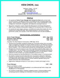Architectural Resume Sample by Project Manager Resume Templates Resume Format Download Pdf Data