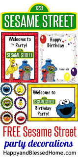 sesame decorations free sesame birthday party decorations sesame