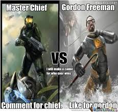 Master Chief Meme - vote gordon freeman or master chief by tankdempsey meme center