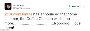 Council Of Trent Documents Dunkin Donuts Dunkin Donuts Is Ditching The Coffee Coolatta Daily Mail