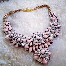 statement necklace with flower images Jewels necklace pink statement necklace pink necklace flowers jpg