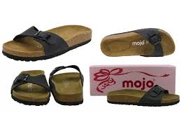 womens mojo footbed suede insole flat slip on mule sandals shoes