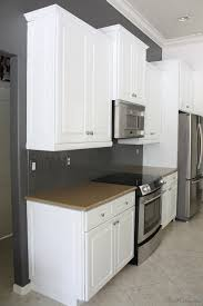 kitchen painted gray with white cabinets how i transformed my kitchen with paint house mix