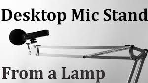 mic stand table attachment diy mic stand from a l youtube