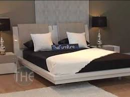 Rossetto Bedroom Furniture Ivory Color Platform Bedroom Set With Swarovski