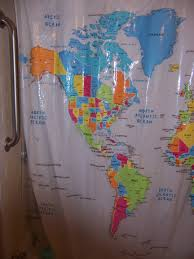 Map Of The World Shower Curtain by Overly Harsh And Pedantic Takedown Of This Shower Curtain Map