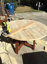 how to make a round table diy round trestle dining table trestle dining tables tables and