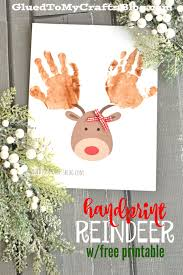handprint reindeer w free printable template