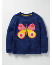 don u0027t miss this deal cosy bouclé sweatshirt dark blue butterfly