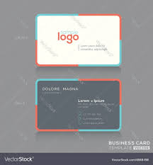 modern simple business card design template vector image 7r5 hd