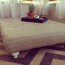 Make Storage Ottoman by Coffee Table Diy Pallet Tufted Coffee Tableottoman Ot How To Make