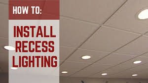 How To Install Pot Lights In Unfinished Basement How To Installing Recessed Lighting Youtube