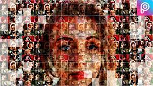 tutorial edit foto mozaik picsart tutorial mosaic portraits pictures hassan sawan youtube