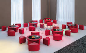 Red Round Coffee Table - modern line furniture commercial furniture custom made