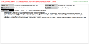 Welder Resume Sample by Doc 618800 Sample Welder Resume U2013 Unforgettable Welder Resume